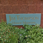 Bangkok Jim Thompson House Sign