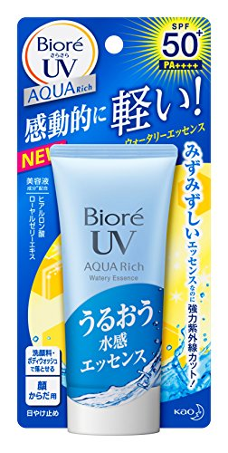 Biore Sarasara Aqua Rich Watery Essence SPF50+/PA++++ 50g Sunscreen - Thailand Vacation, Travel & Resort Guide