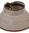 Simplicity-Collapsible-Large-Brim-Striped-Straw-Visor-Hats-0-0