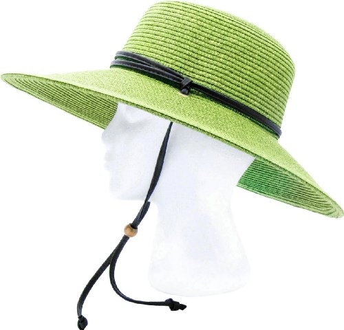 57e1331c0bbfe Sloggers – Women s Wide Brim Braided Sun Hat with Wind Lanyard – Rated UPF  50+ Maximum Sun Protection