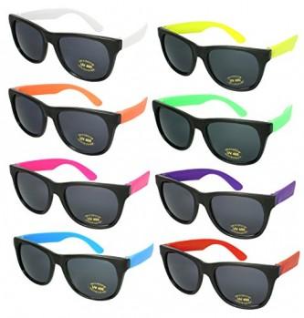 8-Pack-80s-Neon-Wayfarer-Plastic-Sunglasses-with-UV-Protection-5402RA-SET-8-0