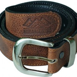 Atitlan Leather Men's Leather Money Belt with Interchangeable Buckle