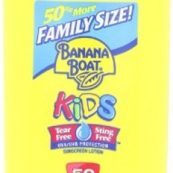 Banana Boat Sunscreen Kids Family Size Broad Spectrum Sun Care Sunscreen Lotion – SPF 50, 12 Ounce