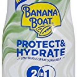Banana Boat Sunscreen Ultra Mist Protect and Hydrate Moisturizing Broad Spectrum Sun Care Sunscreen Spray – SPF 50+, 6 Ounce