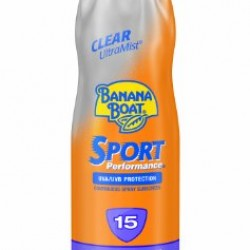 Banana Boat Sunscreen Ultra Mist Sport Performance Broad Spectrum Sun Care Sunscreen Spray – SPF 15, 6 Ounce