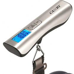Camry Luggage Scale 110 LBS Capacity Large and Blue Backlight LCD Display with Beep Signal