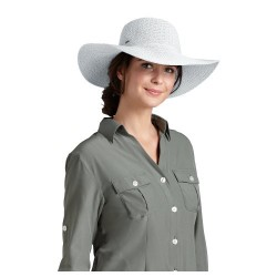 Coolibar UPF 50+ Women's Packable Wide Brim Hat – Sun Protective