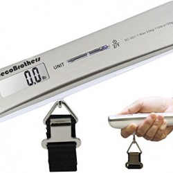 DecoBros 110lb/50kg Electronic Digital Luggage Hanging Scale, temperature sensor