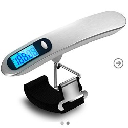 Digital Luggage Scale Combo with Free: Battery + Ebook +