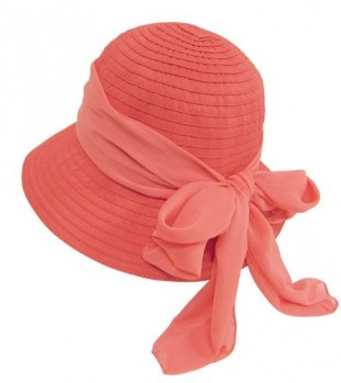 Foldable-Roll-Up-UV-Cloche-Sun-Hat-w-Wide-Brim-Bow-Sash-SPF-Protection-0