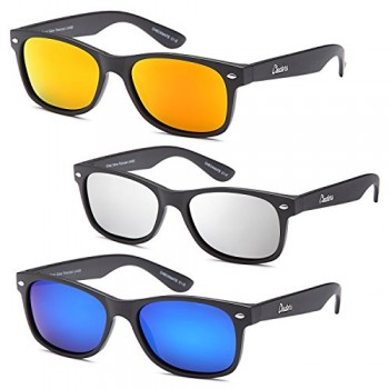 GAMMA-RAY-CHEATERS-Checkmate-Polarized-UV400-Flat-Finish-Sunglasses-with-Mirror-Lens-Options-0