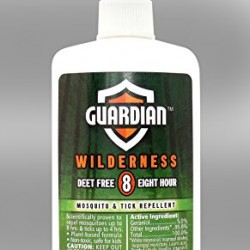 Guardian Wilderness Deet Free 8 Hour Mosquito and Tick Repellent, 4 Fluid Ounce