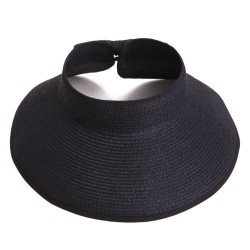 HDE Sun Visors for Women Roll Up Hat Beach Shade Sun Hats Packable Straw Cap