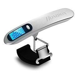 Homdox® Digital Luggage Scale 110lb Blue Backlight FREE,Digital Portable Handheld Small Airline LCD Travel Luggage Scale-Gift for Traveler