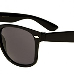 Mirozi Men's Classic Black Frame/Black Lens Wayfarer 48MM Sunglasses