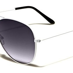 Mirozi Unisex Classic White Frame/Grey Lens Aviator 51MM Sunglasses