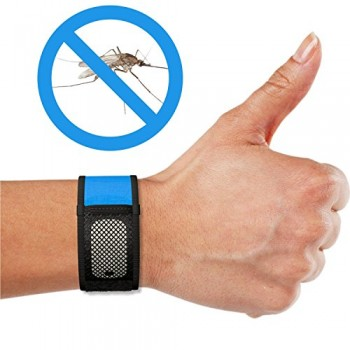 Mosquito-Repellent-Bracelets-iCooker-No-Spray-DEET-FREE-2x-FREE-Repellent-Refills-Best-Pest-Control-Repeller-Products-for-Ants-Insects-Other-Mosquitoes-Perfect-Bug-Insect-Repellent-for-Kids-Adults-Wom-0