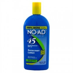 NO-AD Sunscreen Lotion SPF 45 — 16 fl oz