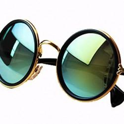 NYKKOLA Unisex's Round Mirror Polycarbonate Sunglasses