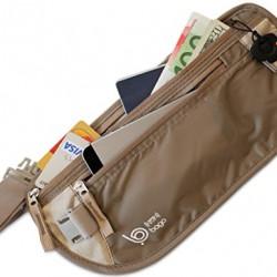 Bago Money Belt RFID Safe – Hidden Travel Wallet – Passport Holder & Accessories
