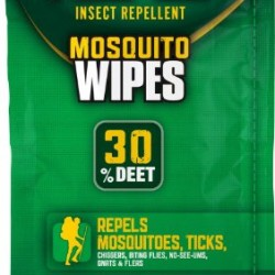 Repel Sportsmen 30-Percent Deet Mosquito Repellent Wipes, 15 Count