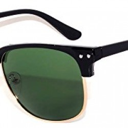 Retro Classic Sunglasses Metal Half Frame With Colored Lens Uv 400 OWL