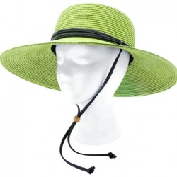 Sloggers – Women's  Wide Brim Braided Sun Hat with Wind Lanyard – Rated UPF 50+  Maximum Sun Protection