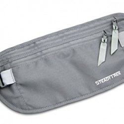 SteadyTrek Hidden Travel Money Belt – RFID Safe Waist Bag for Passports, Money, Credit Cards, and IDs