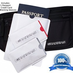 Guardian Accessories Money Belt Travel Safety Wallet w/ 3 RFID Sleeves