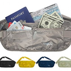 Travel Money Belt: Undercover Waist Stash, Passport Holder Pouch, Credit Cards Wallet