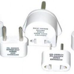 Travel Smart By Conair M500ENR International Plug Adapter Set of 5 Plugs (NW1C, NW2C, NW3C, NW10C, and NW135C)