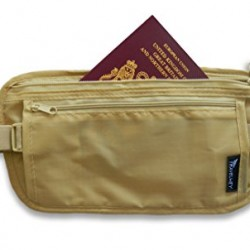 Travelwey Money Belt Travel Waist Bag (Beige / Extra Long) (Max Waist Size 55 inches)